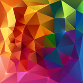 Abstract triangles colorful background — Stock Vector