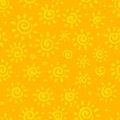 日当たりの良いオレンジ色ベクトルのシームレスなパターン — ストックベクタ