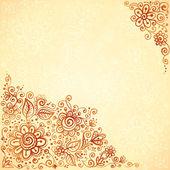 Henna barvy vzkvétat umělecké zázemí — Stock vektor