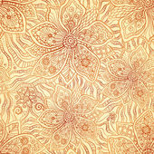 Mehndi ornamental flourish vector pattern — Stock Vector