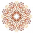 Ornate flowers henna colors vector mandala — Stock Vector