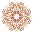 Ornate flowers henncolors vector mandala — Stock Vector #26094171
