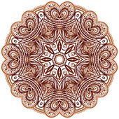 Ornate ethnic henna colors vector mandala — Stock Photo