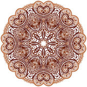Ornamentado étnica do henna cores vector mandala — Vetor de Stock