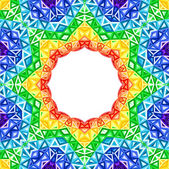 Rainbow kaleidoscope vector colorful background — Stock Vector