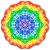 Rainbow kaleidoscope vector vibrant circle — Stock Vector