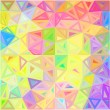 Pastel colors abstract triangles vector background — Stock Vector
