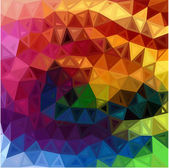 Rainbow colors abstract triangles background — Stock Vector