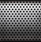Vector modello senza soluzione di continuità metallica forata — Vettoriale Stock