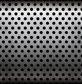 Vector perforated metallic seamless pattern — Vettoriale Stock