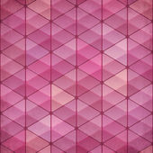 Abstract triangles vintage vector pink background — Stock Vector