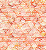 Ornate hand-drawn vintage beige triangles — Stock Vector