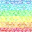 Ornate hand-drawn rainbow triangles vector — Stock Vector