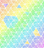 Abstrait arc-en-ciel de couleurs triangles — Vecteur