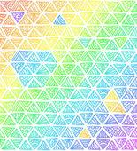 Arcobaleno astratto colori triangoli — Vettoriale Stock