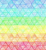 華やかな手描きの虹の三角形のベクトル — ストックベクタ