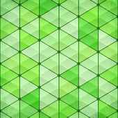 Green vintage triangles vector background — Stock Vector