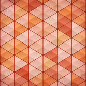 Abstract triangles vintage orange background — Stock Vector