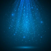 Blue shining magic light vector background — Stock Vector