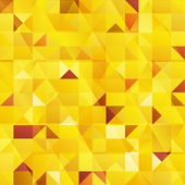 Yellow vector abstract triangles seamless pattern — Stock Vector