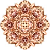 Ornate vintage beige vector doodle circle pattern — Stock Vector