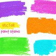 Vibrant colors vector felt pen stains — Stock Vector