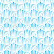 Blue retro fish scales vector seamless pattern — Stock Vector