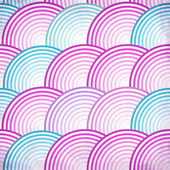 Pink retro fish scales vector seamless pattern — Stock Vector