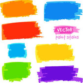 Bright rainbow colors vector pain spots set — Stok Vektör