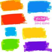Jasné duhové barvy vektor bolest skvrn sada — Stock vektor