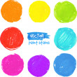 Rainbow colors vector paint stains — Vettoriali Stock
