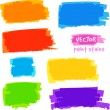 Bright rainbow colors vector pain spots set — Stock Vector