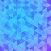 Blue abstract vector triangles background — ストックベクタ