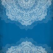 Ornate vintage blue vector background — Stock Vector