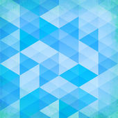 Abstract grunge blue triangles vector background — Stock Vector
