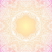 Ornate vintage vector background in mehndi style — Stock Vector
