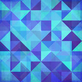 Abstract triangles vector blue background — Stock Vector