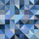 Abstract triangles vector blue background — Stok Vektör