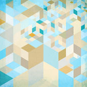 Abstract geometry vector blue background — Stock Vector
