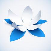 Blaue Ausschnitt Papier Vektor-Pflüger — Stockvektor