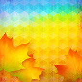 Abstract autumn vector bright background — Stock Vector
