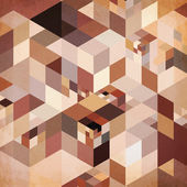 Abstract geometry vector brown background — Stock Vector