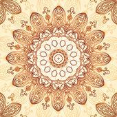 Ornate vintage circle pattern in mehndi style — Stock Vector