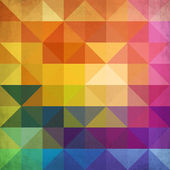 Abstract vibrant triangles vector background — Stock Vector