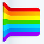 Rainbow stripes realistic plastic vector backdrop — Stock Vector