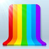 Rainbow stripes vector en plastique fond — Vecteur