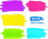 Colorful rainbow paintbrush vector strokes — Stock Vector