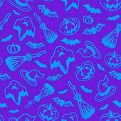 Modèle sans couture de vector violet halloween — Vecteur