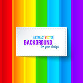 Bright colorful rainbow stripes vector background — Stock Vector