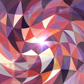 Bright abstract triangles grid vector background — Vector de stock